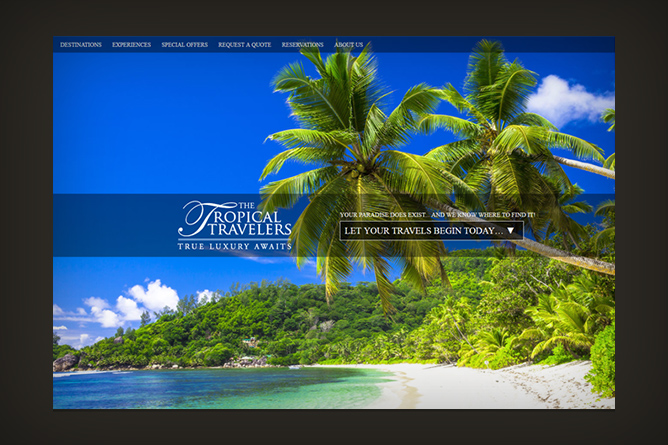 <span>The Tropical Travelers Website</span><i>></i>